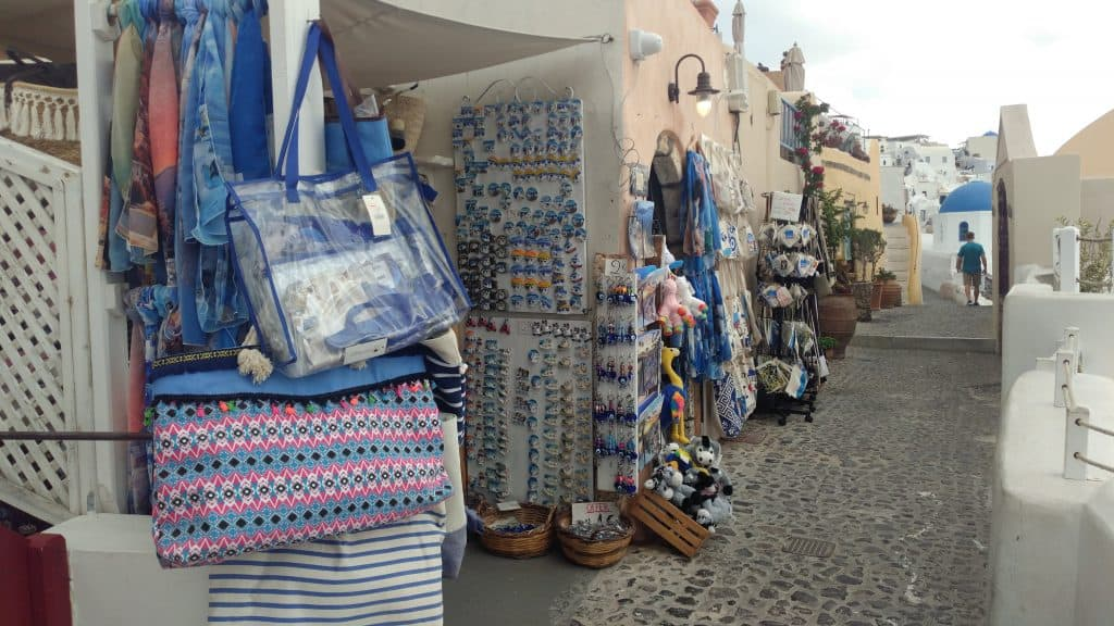 Boutiques in Oia, Santorini, Greece