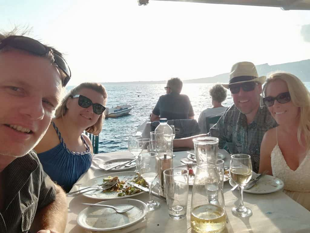 Dining at Sunset Restaurant, Santorini