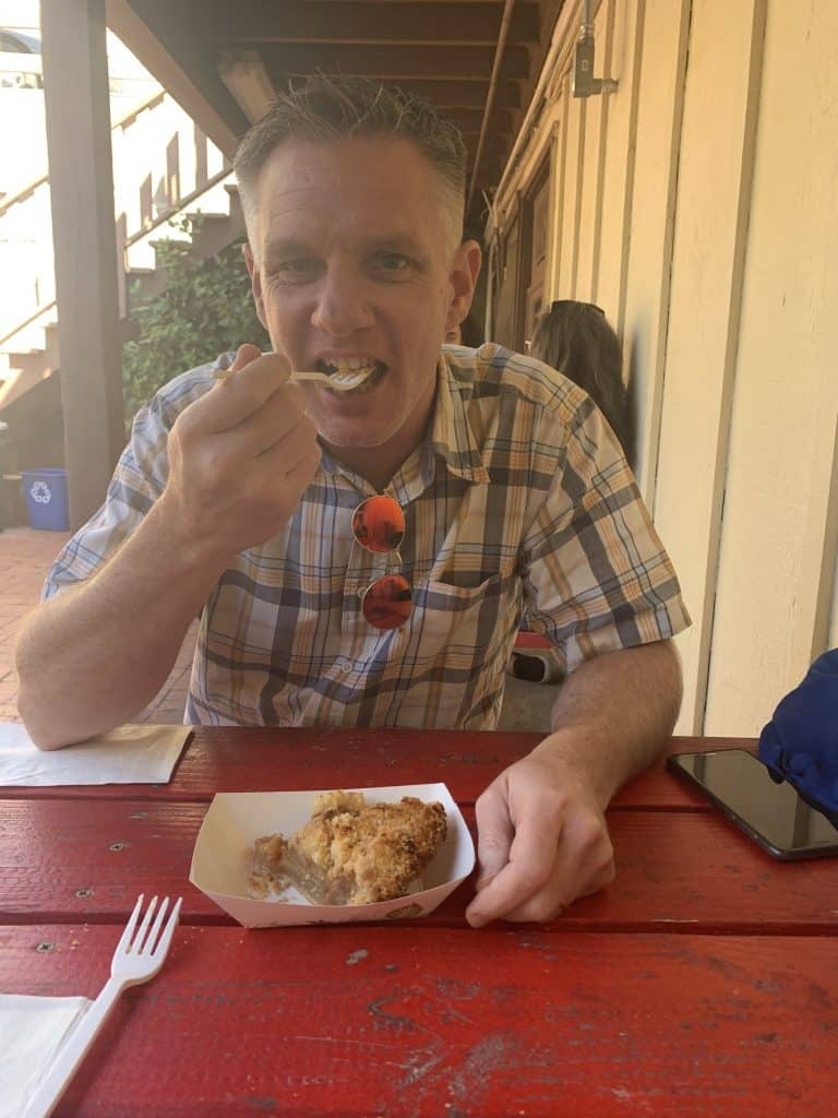 Eating pie in Julian, CA