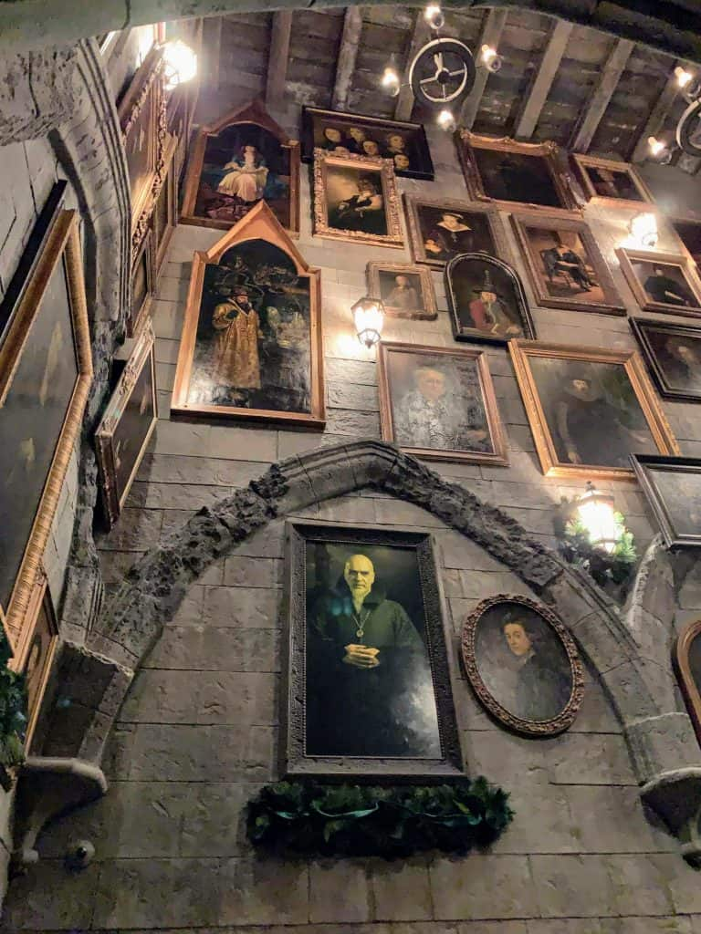 Talking pictures in Hogwarts at Universal Studios Hollywood
