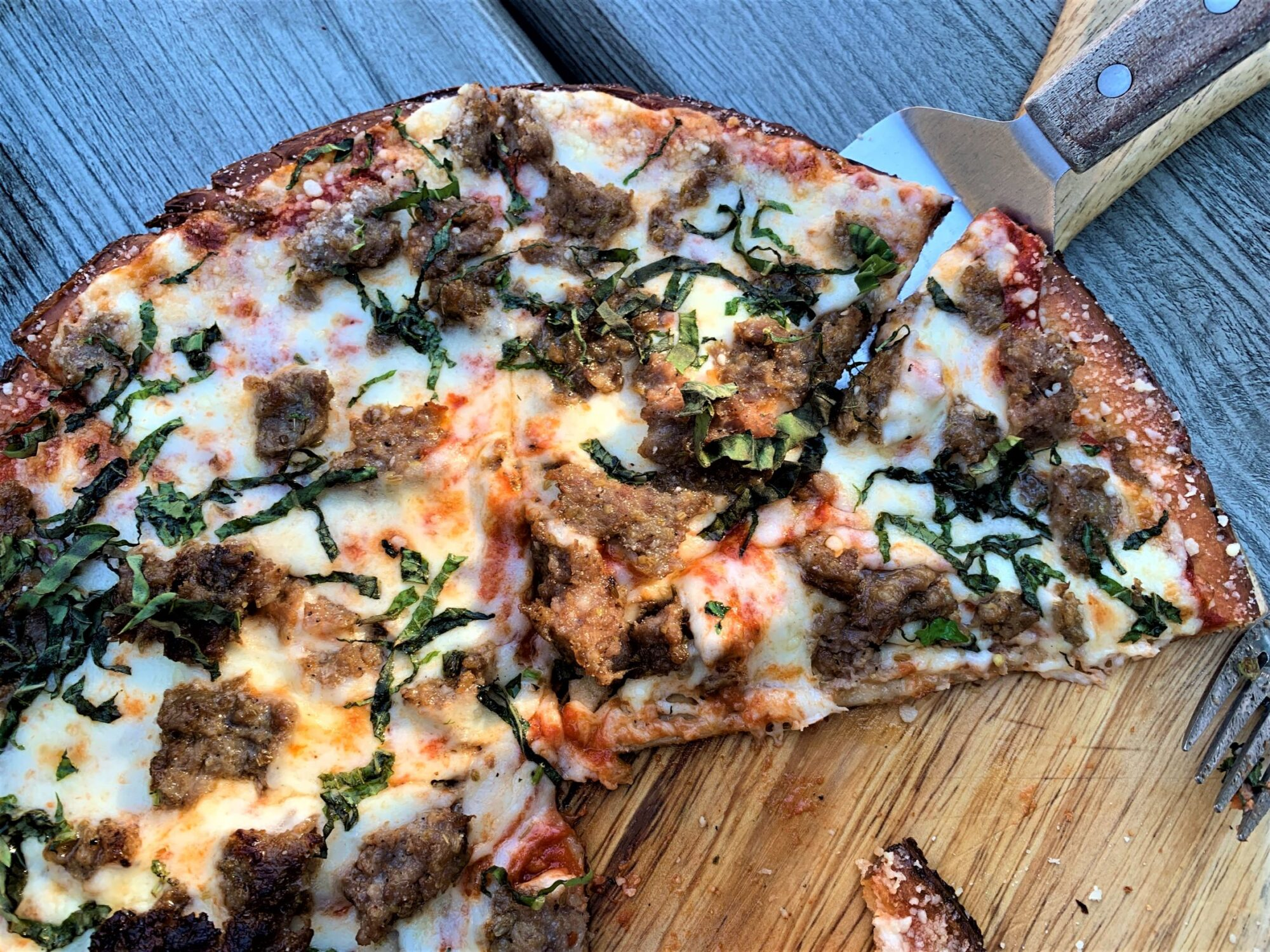 Stone Fired Pizza on Cauliflower Crust from 127 Social House